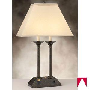 Awesome Desk Lamp, 1 Outlet, 1 Ethernet Port, 26 Inch , Satin Antique Brass