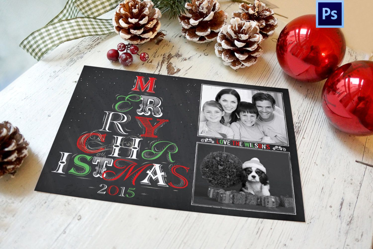 Holiday Christmas Tree Card Photoshop (.PSD) Templates that you ...