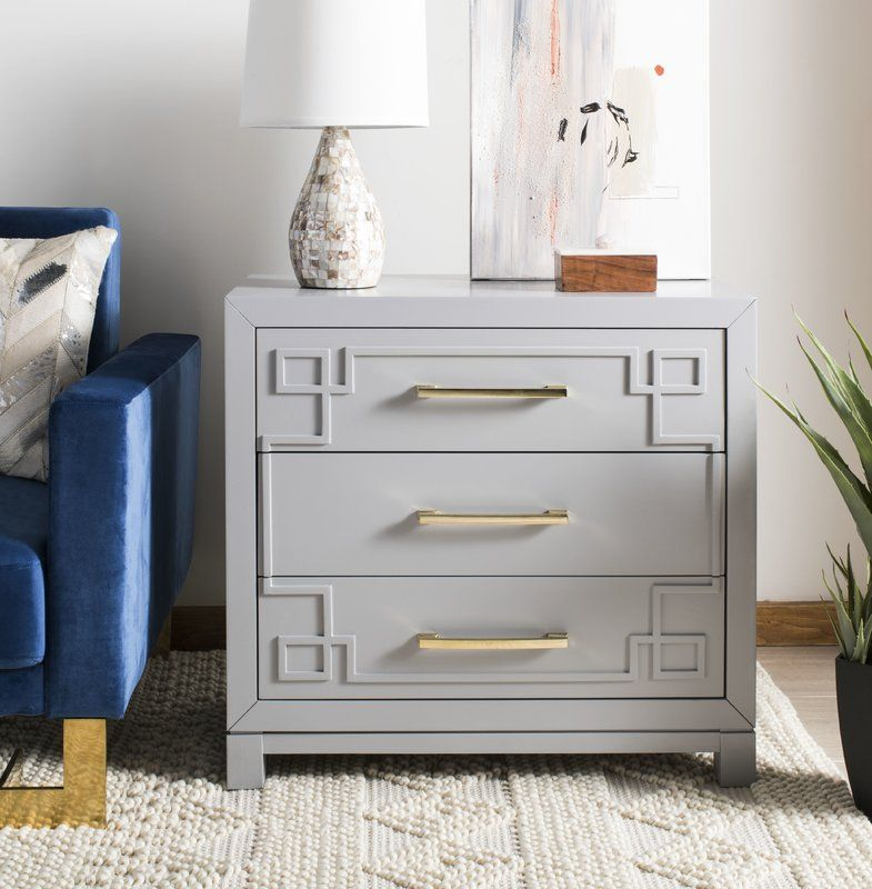 bindera 3 drawer nightstand grey and gold bedroom drawers chest twin sets walmart
