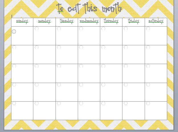 printable meal planner calendar
