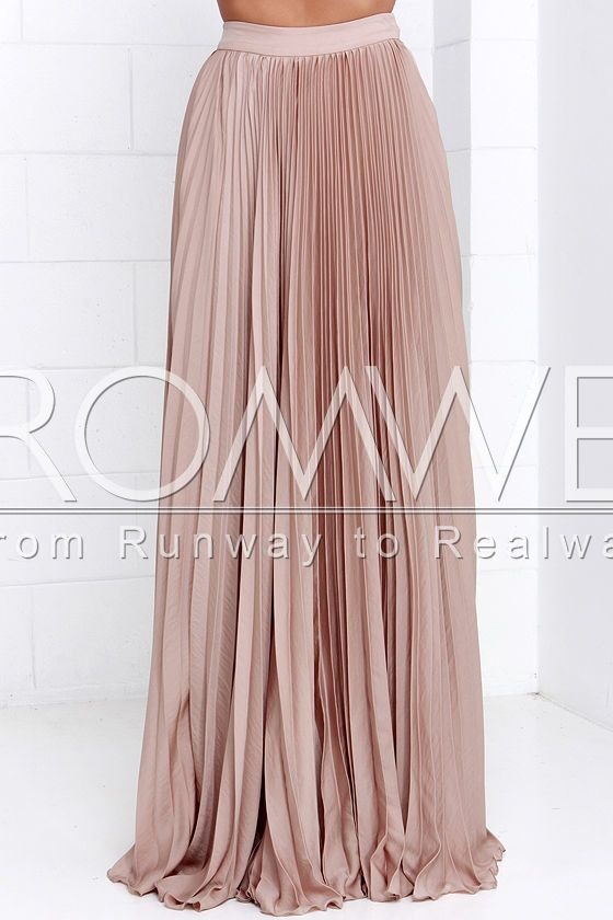 Pink Pleated Maxi Skirt | kapau | Pinterest | Pink, Maxis and Cats
