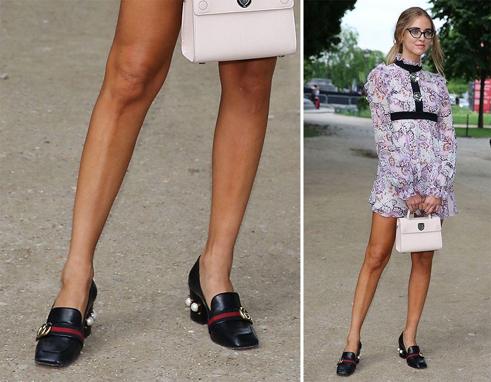 5bf4244a Chiara-Ferragni-Gucci-Mid-Heel-Loafers | Fashion in 2019 | Heeled ...