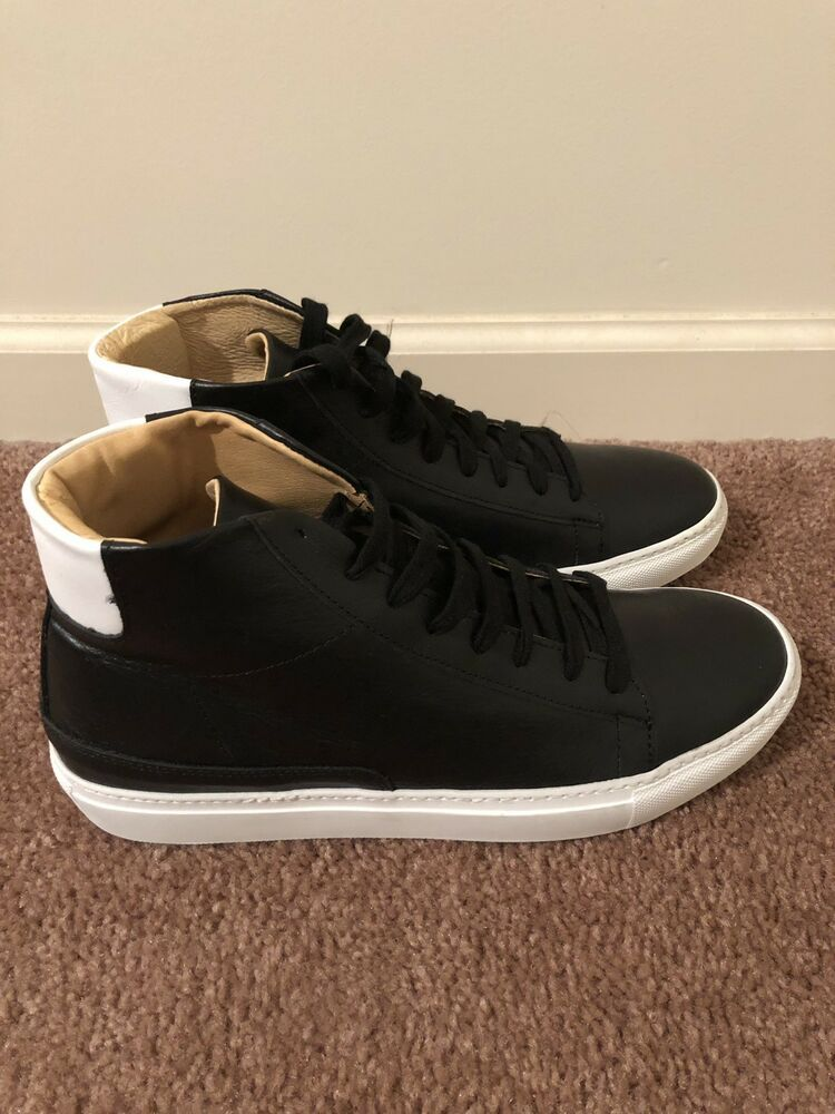 a2b4fab0ecd New Men s Barneys New York Black Leather High Top Sneakers Size 9 ...