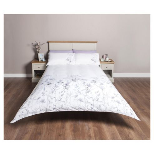 Tesco Direct Embroidered Floral Print Double Duvet Set Duvet Sets Double Duvet Set Comforter Sets
