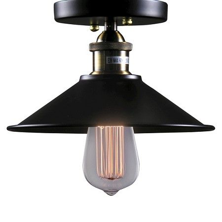 Warehouse of tiffany 9 x 9 x 7 inch black ceiling lights