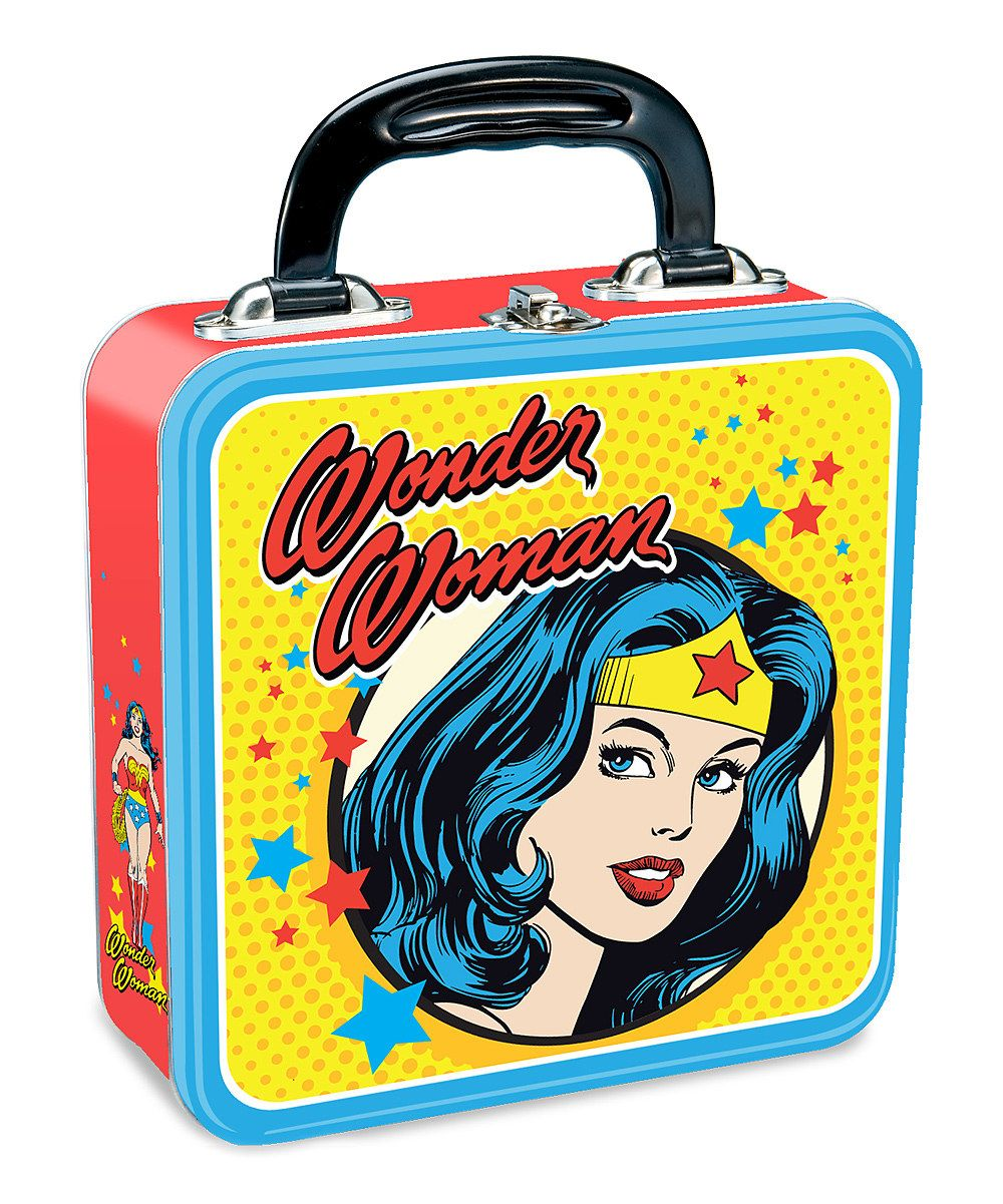 1163d71b1b56 Take a look at this Yellow Wonder Woman Square Lunch Box on zulily today!   9.99