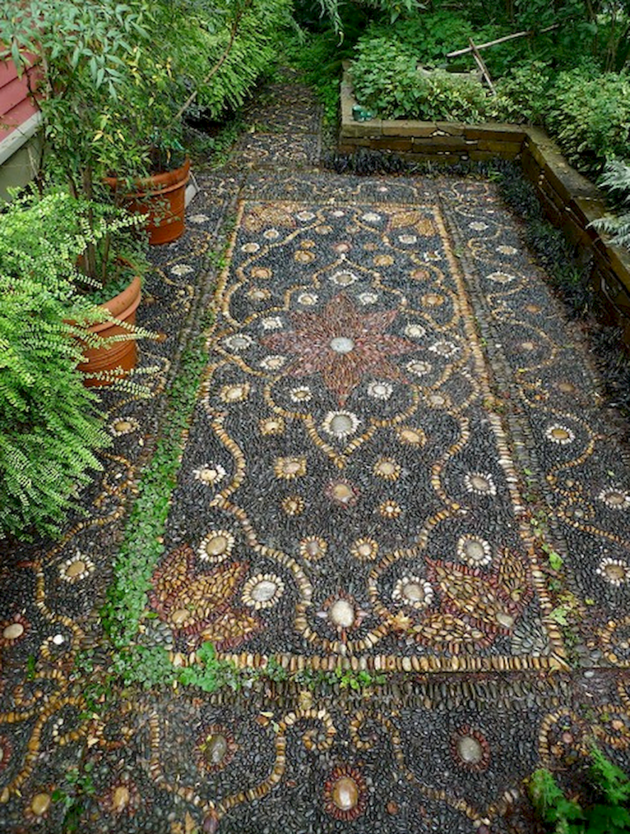Photo of 12 Beautiful DIY Mosaic Garden Path Decorations For Your Landscape Inspiration – Insidexterior