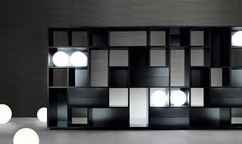 Contemporary shelf / aluminum OPUS by Giuseppe Bavuso RIMADESIO