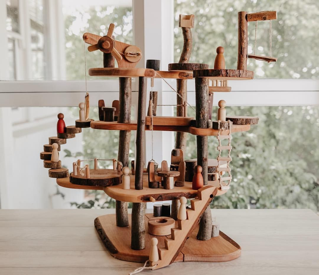Wood, MAGIC wood ❀ In the zodiac world, I'm a Leo the Lion. Which means I roar fiercely when annoyed (sorry hubby 🙊), but a… | Tree house, Wood branch, Wooden toys