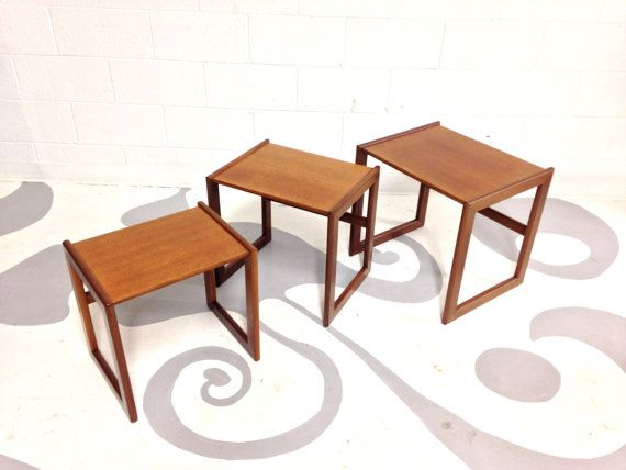 mid century modern nest of tables a very well designed set on exclusive modern nesting end tables design ideas very functional furnishings id=64071