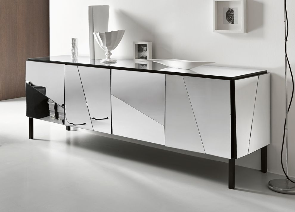Modern Buffets Mirrored Buffet A Modern Piece To Any Luxury Living Room