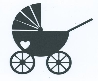 Baby Stroller Or Pram Baby Silhouette Baby Clip Art Silhouette Projects