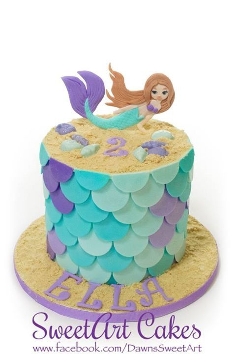 Mermaid cake mermaid scale cake SweetArt Cakes Pinterest