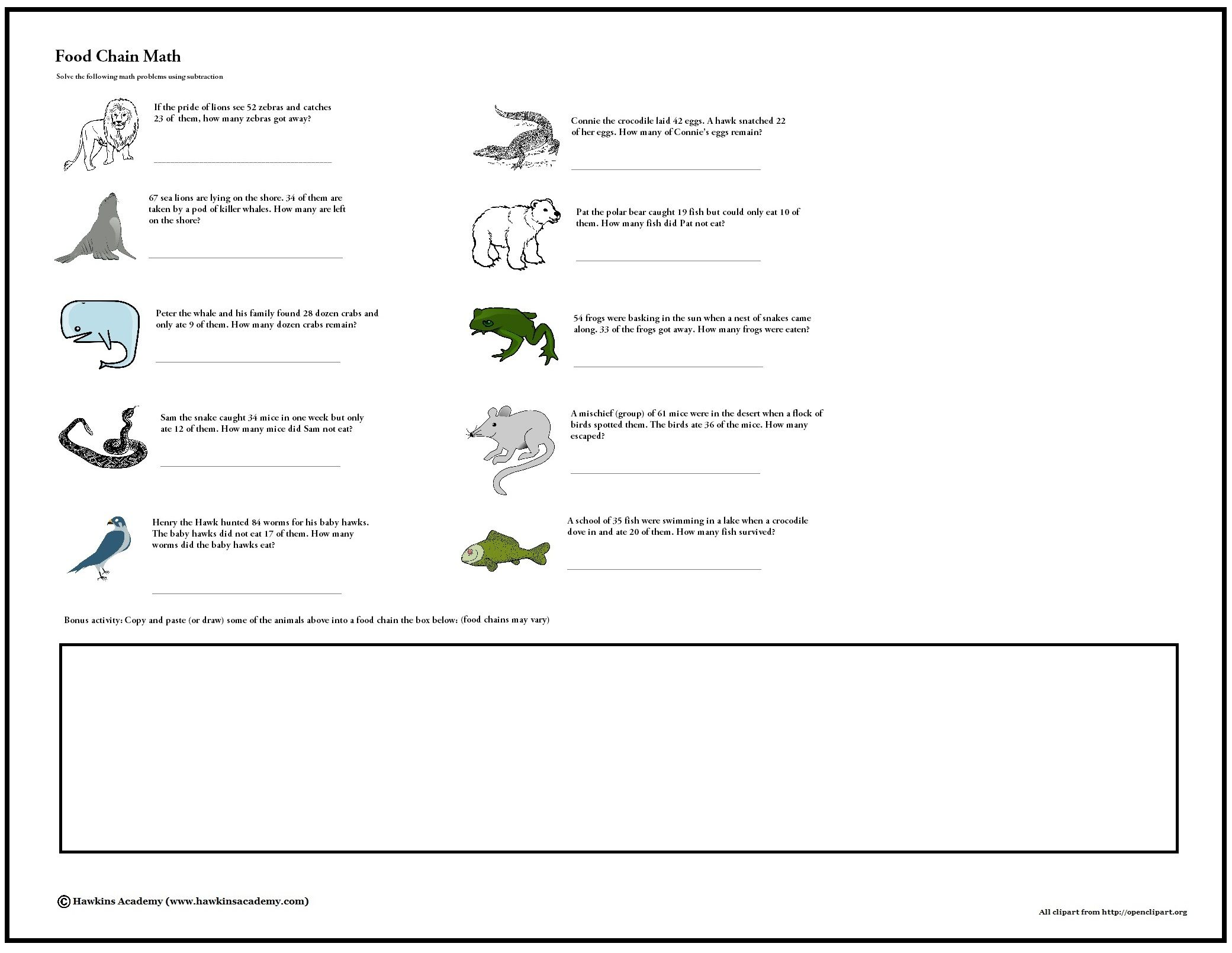 Food Chain Math Free Download