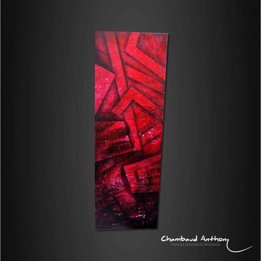 Tableau rouge hauteur maison toile et c r ales for A quelle hauteur fixer un tableau