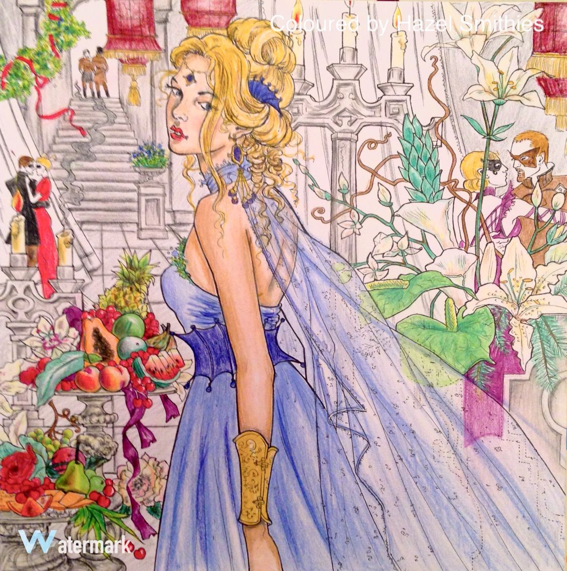 From Throne Of Glass Colouring Book By Sarah J Maas In Prismacolor Premier Pencils