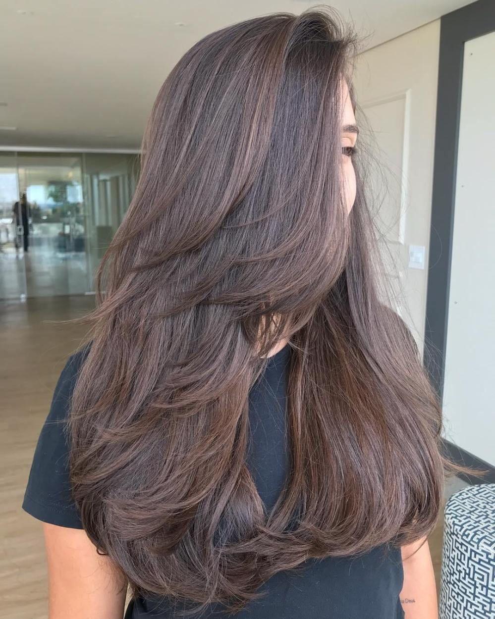 80 Schattige Gelaagde Kapsels En Kapsels Voor Lang Haar Gelaagde Haar Kapsels Lang Sch Haarschnitt Lange Haare Lange Haare Frisuren Lange Haare Schnitt