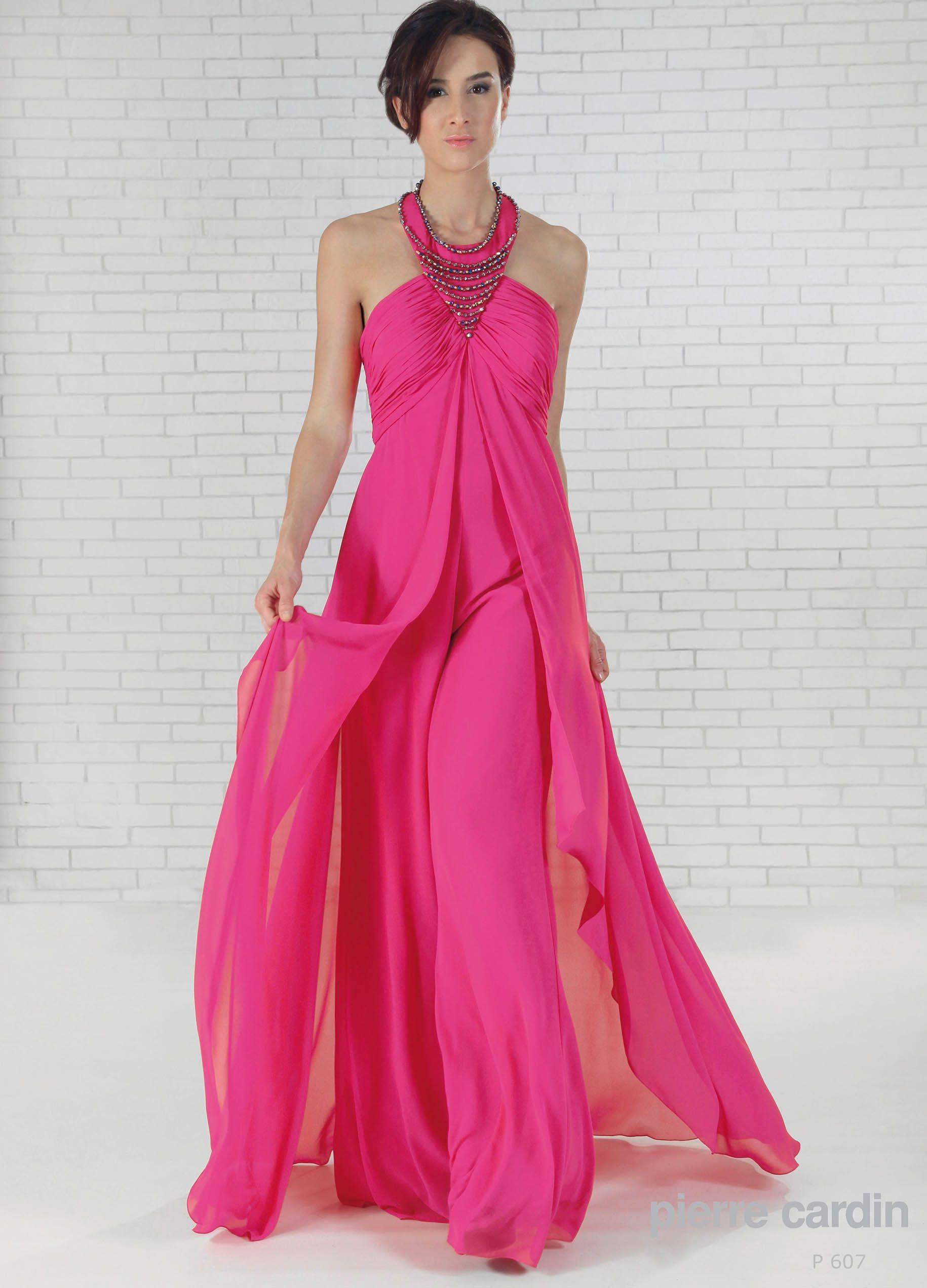 P607 - Vestido de Fiesta - Pierre Cardin | vestidos de novia, noche ...
