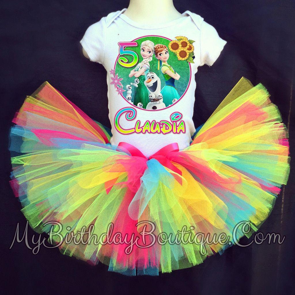 Disney Frozen Fever tutu birthday outfit, Frozen fever