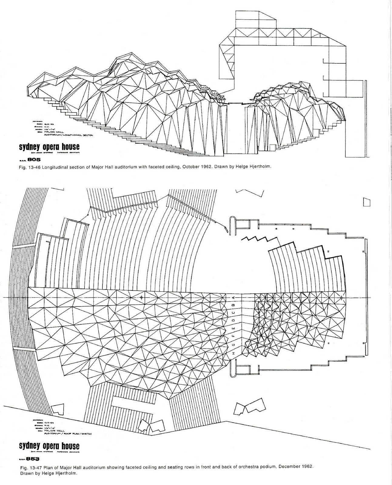 Des plans de l\'Opéra de Sydney | Opera house, Jorn utzon and ...
