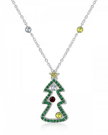 Merry 2.6ct White Gold Rhodium Pendant Necklace for $16.00 at Baubles.