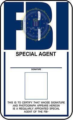Fbi Id Template Fbi Identification Card X Files Prop X Files