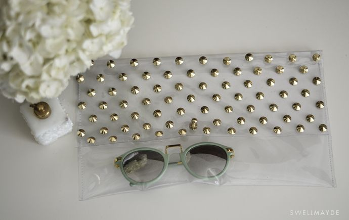DIY: Studded Clear Clutch | State of Unique
