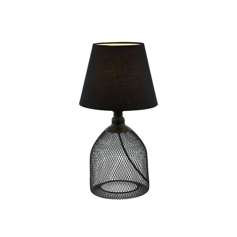 Abat NoirLampes Noire D Grillagée Avec Lampe Métal Jour En m8nwOvN0