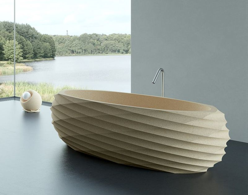 NuSpa Is A Range Of Bath Objects Made Cork The As Raw Material Provides Perfect Plasticity