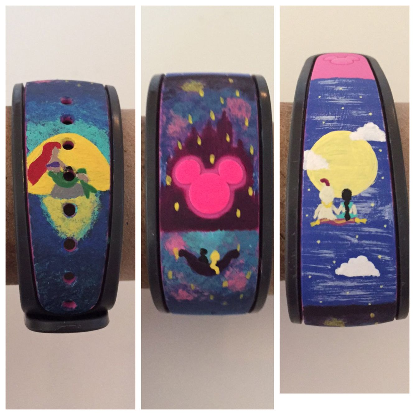 I hand-painted my magic band for my trip to Disney