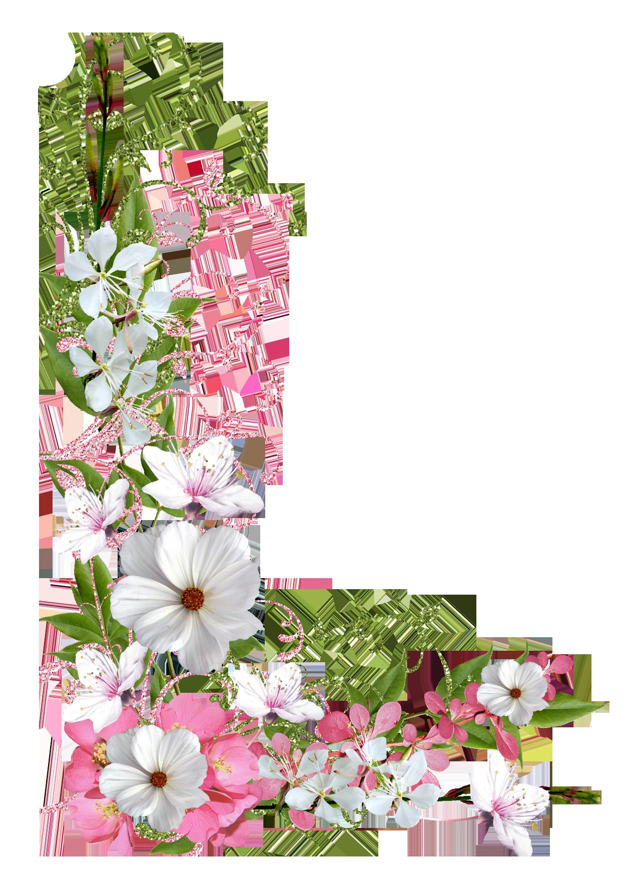 Pin By Silvia Alvarez B On Bordes Pinterest Flowers Clip Art