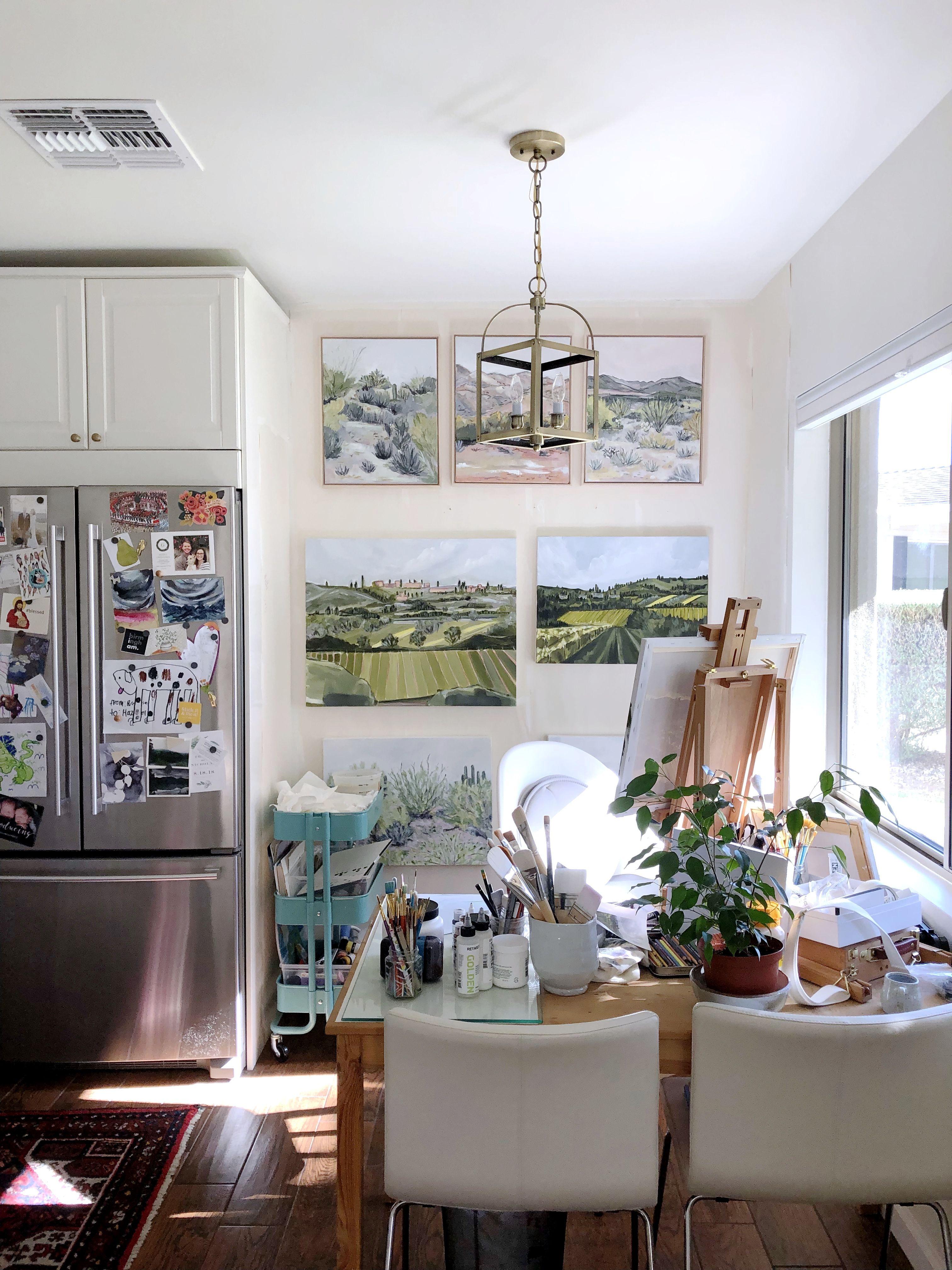 A Small Phoenix Home Has The Cutest Sun Filled Kitchen Corner Art
