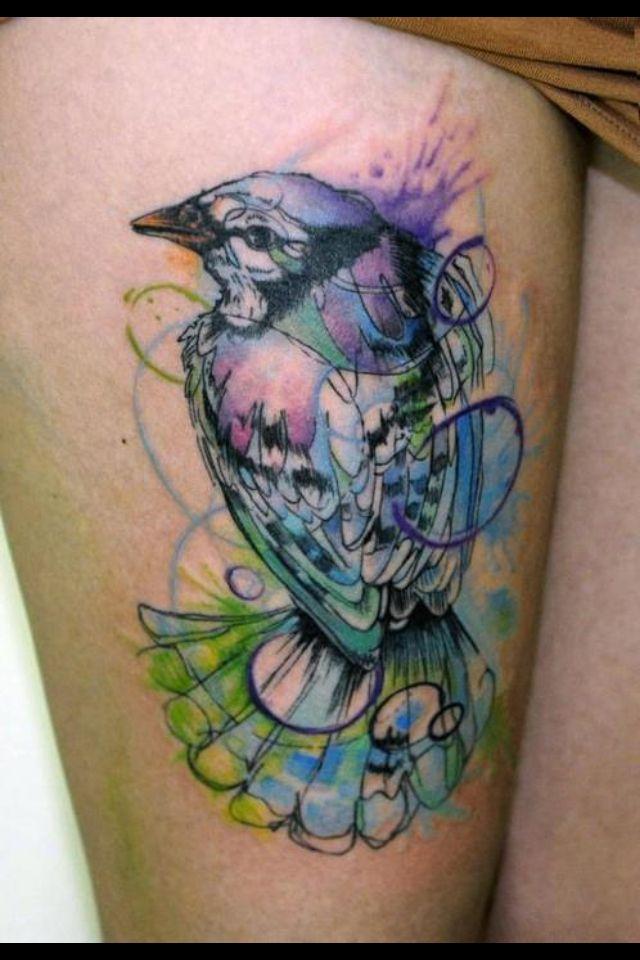 Watercolor bird