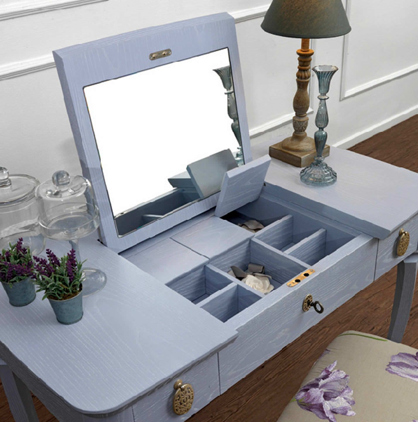 Modern bedroom dressing table with mirror - Traditional Dressing Table Gina By Joe Gentile Galimberti Nino