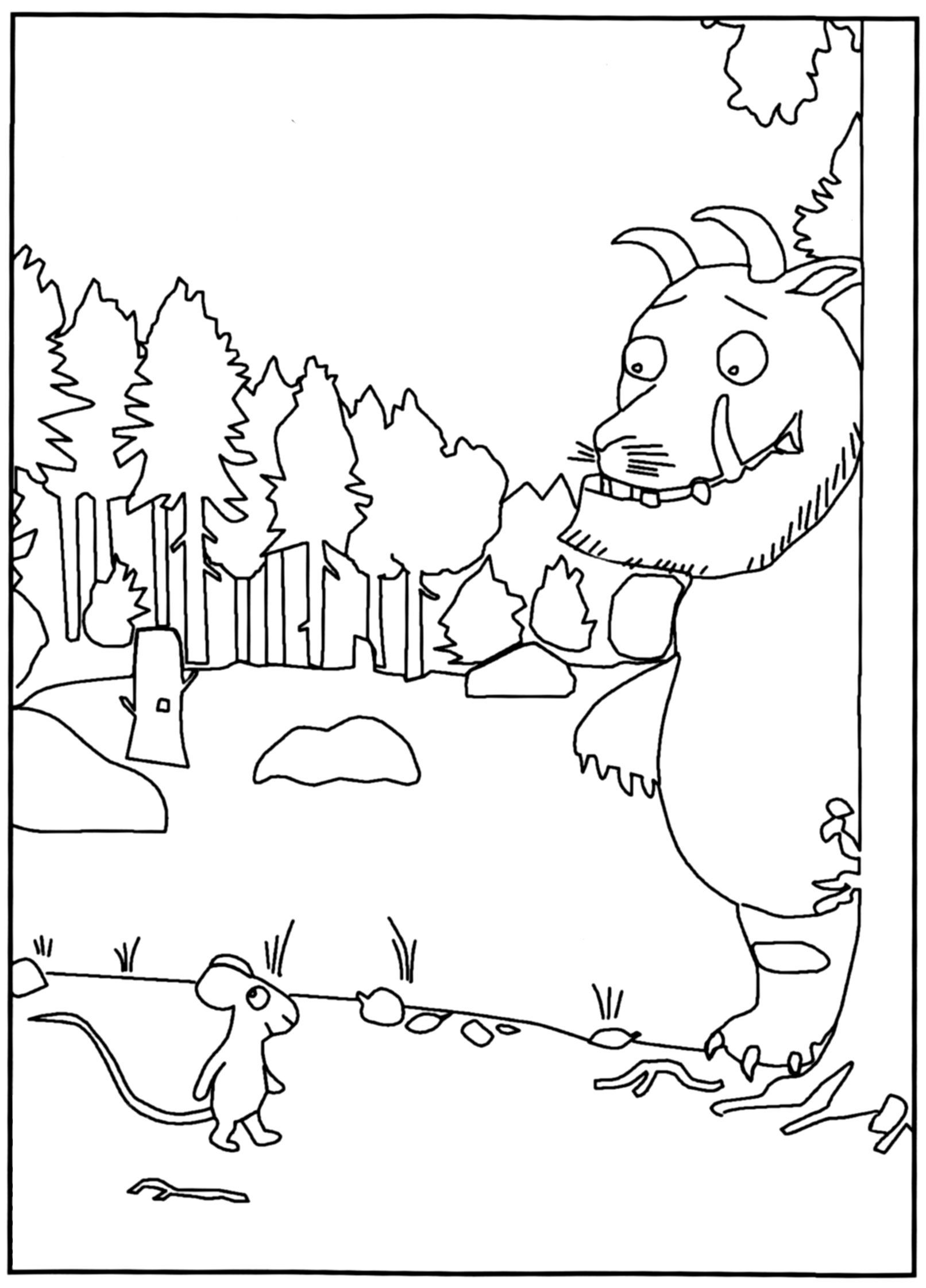 The gruffalo colouring pages to print - Gruffalo Colouring Page