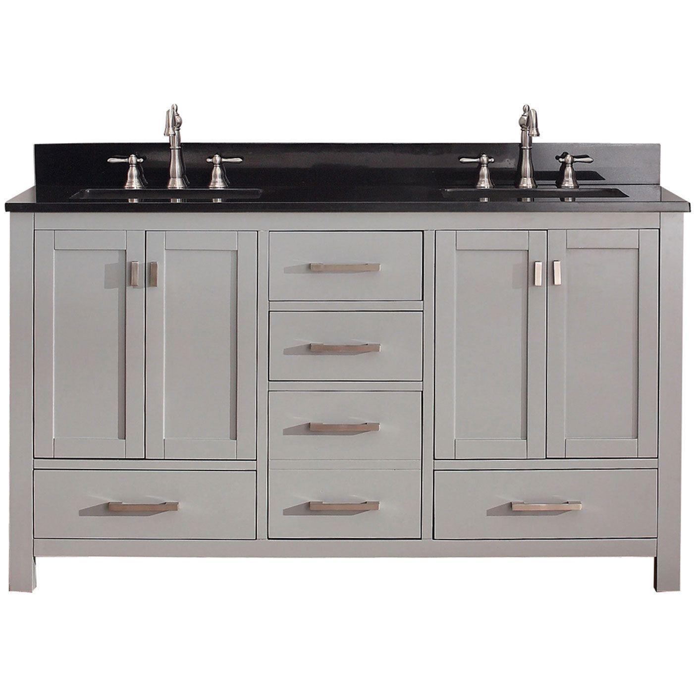 Double sink white bathroom vanities avanity modero inch chilled grey double vanity combo whitegrey