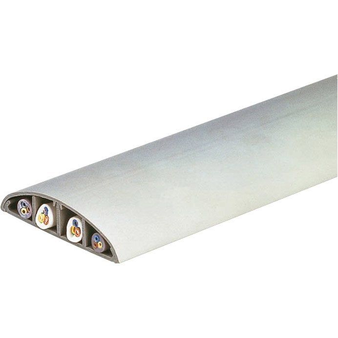 Passage De Plancher Gris Pour Moulure H 1 7 X P 7 5 Cm Moulure Electrique Plancher Blanc Et Plancher