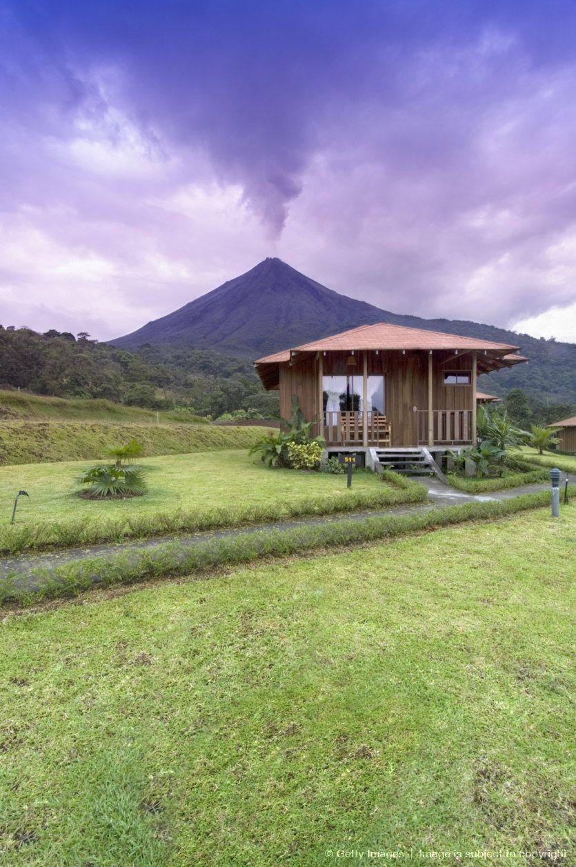 Costa Rica, La Fortuna, cabin at Lomas de Volcano Hotel