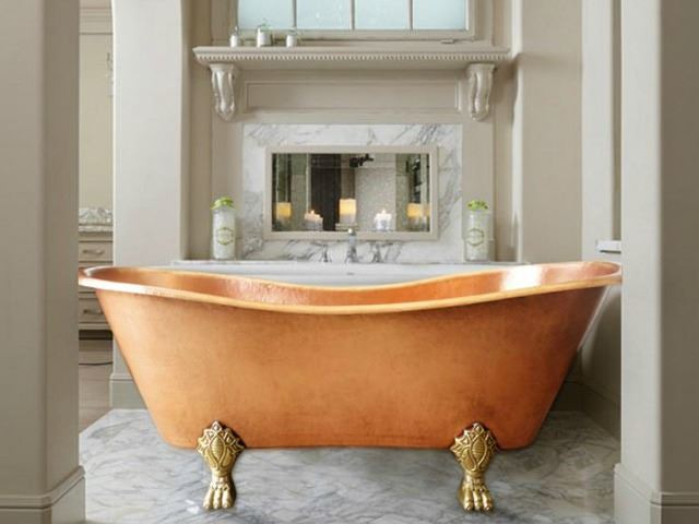 Nicole Clawfoot Copper Bathtub By Soluna Copper Bathtubs Copper