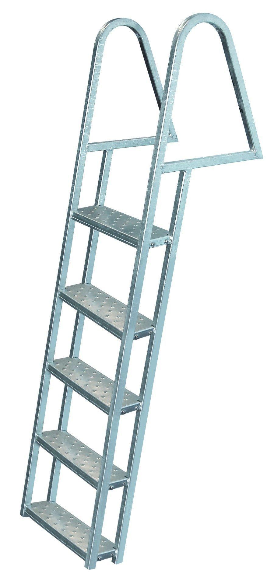 Jif Marine 5 Step Tie Down Dock Ladder Galvanized Steel Fdq5 Ga Dock Ladder Folding Ladder Aluminium Ladder