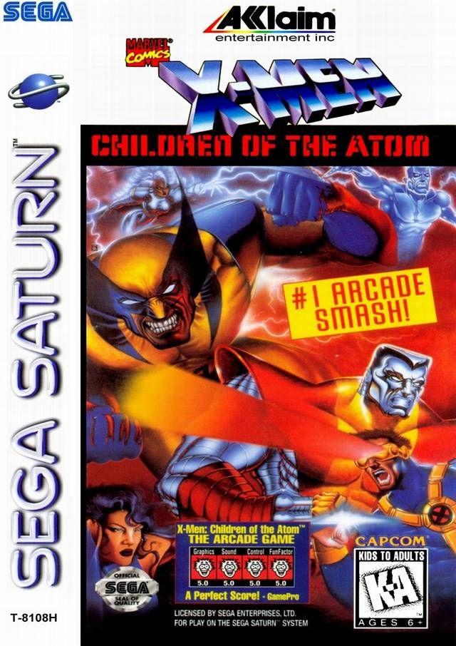 X Men Children Of The Atom Sega Saturn Sega Saturn Sega X Men