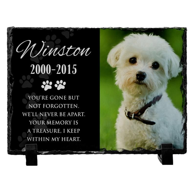 Personalized Memorial Pet Stone Headstone with Your Pets ...