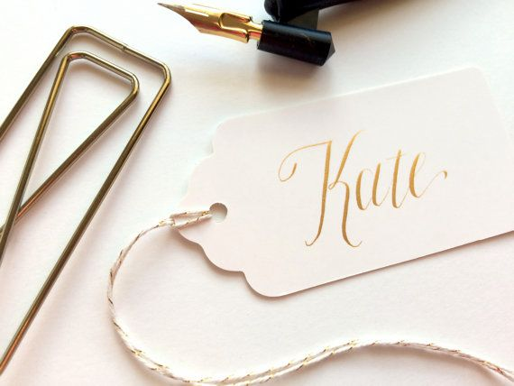 Calligraphy Gift Tag Welcome Bag Wedding Party Personalized Name Tags Favor T