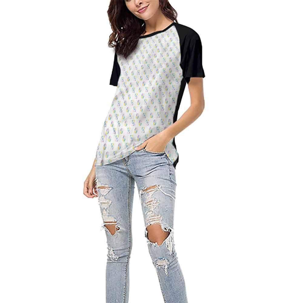 LEKODE Women T-Shirts Fashion Printed V-Neck Long Sleeve Tops