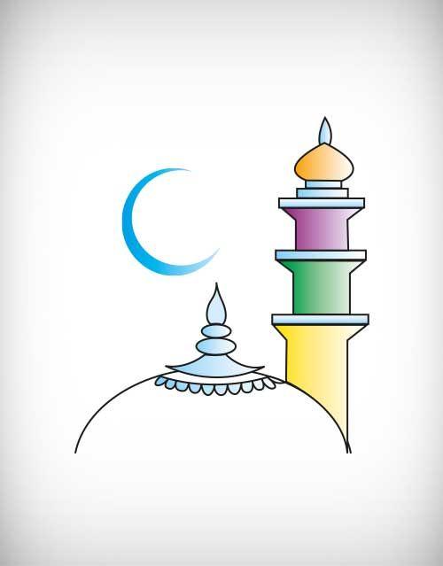 Line Drawing Of Qutub Minar : Minar vector free mosque