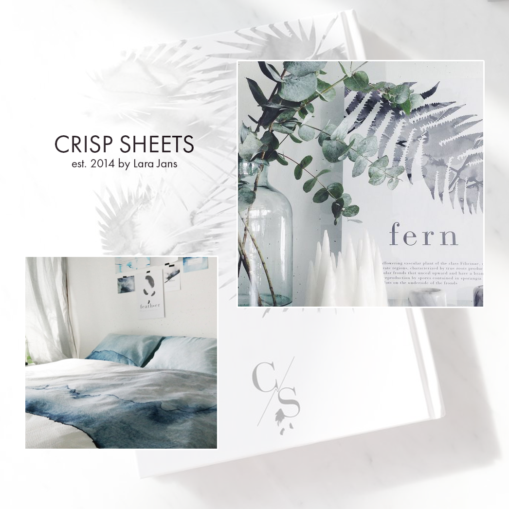 Crisp Sheets, Lara Jans, Beautiful cool crisp graphic design and organic forms | Painting Grace | It's Friday I'm in Love