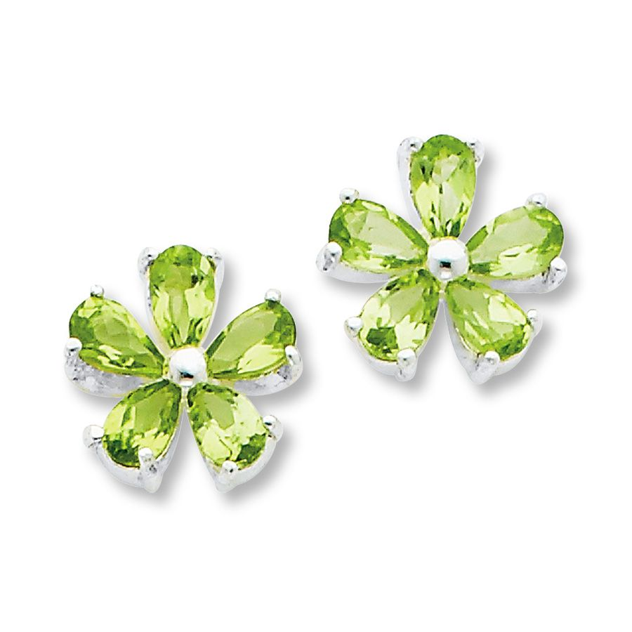 collections products yellow earrings peridot diamonds with in all plumeria gold