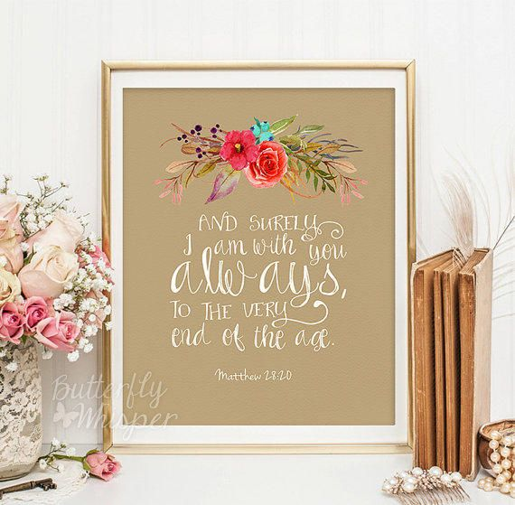 Christian wall art scripture print, Nursery Bible verse wall art, I ...