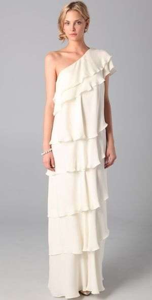Rachel Zoe White Grecian Maxi Dress Makes Me Wish It Was Ok To Wear A Wedding And Not Be The Bride