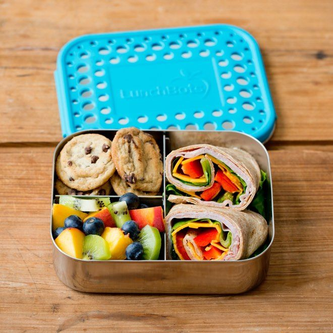 LunchBots Trio Stainless Steel 3 Compartment Bento Box – Carey&CleanEatingS